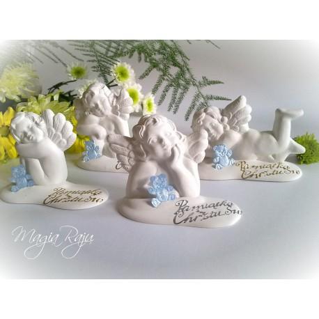 Podziękowanie dla gości na chrzest, chrzciny - aniołki