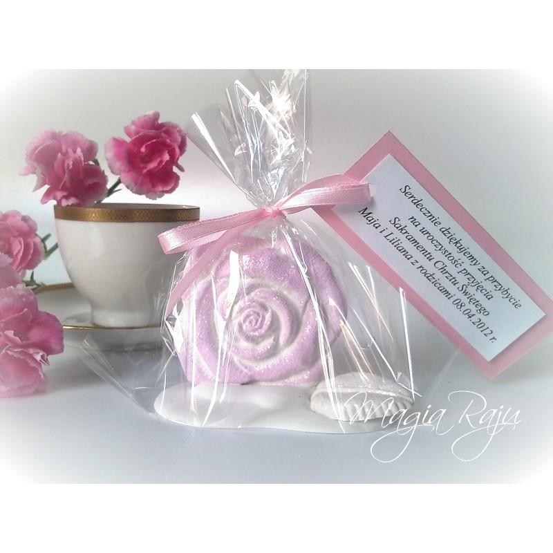 Podziękowania Dla Gości Róża Na Chrzest Roczek Komunię ślub Wesele