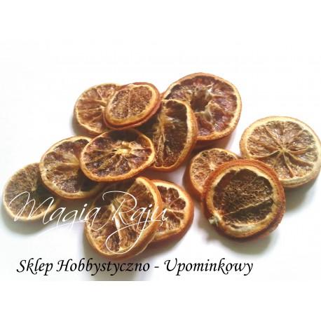Suszone Pomarańcze 50g około 15 plastrów