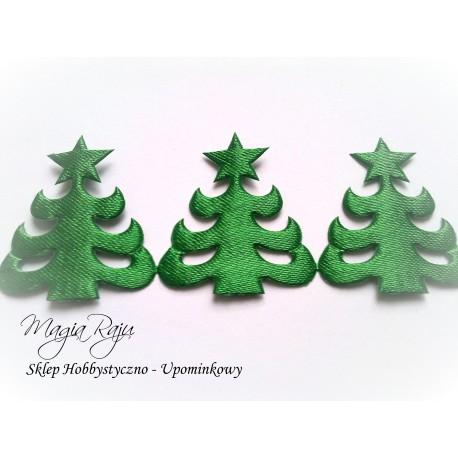Aplikacja zielona choinka 19 szt - 50 cm