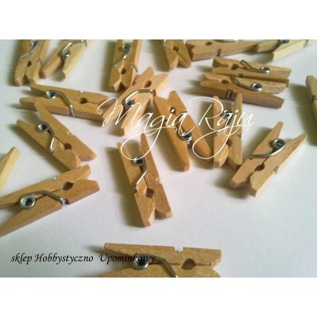 Drewniane klamerki mini