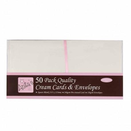Zestaw Anita's 50 kopert plus 50 kart kwadratowych kremowe