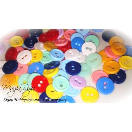 KOLOROWE GUZIKI plastikowe -50 szt ---- mix kolor