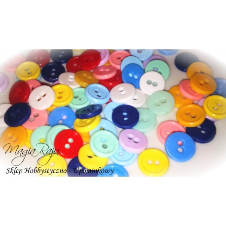 KOLOROWE GUZIKI plastikowe -500 szt mix